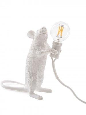 Настольная лампа Mouse Standing Seletti. Цвет: белый