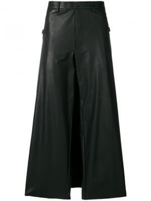Широкие брюки из искусственной кожи Jean Paul Gaultier Vintage. Цвет: черный