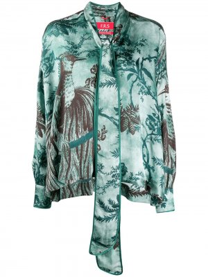 Блузка Alethia с принтом F.R.S For Restless Sleepers. Цвет: зеленый