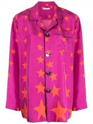 Пижамная рубашка с принтом Youre A Star AZ FACTORY. Цвет: розовый