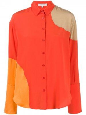 Рубашка свободного кроя со вставками Chinti and Parker. Цвет: оранжевый