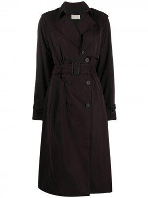 Двубортное пальто The Row. Цвет: черный