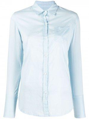 Рубашка с длинными рукавами Nili Lotan. Цвет: синий