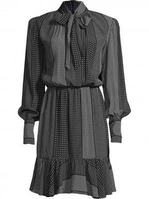 Платье Kaleidostripe Nicole Miller. Цвет: черный
