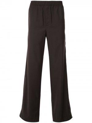 Строгие брюки с эластичным поясом Qasimi. Цвет: коричневый