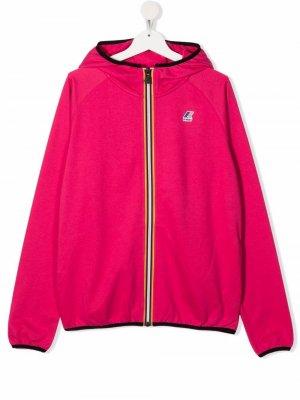 Куртка с капюшоном и нашивкой-логотипом K Way Kids. Цвет: розовый