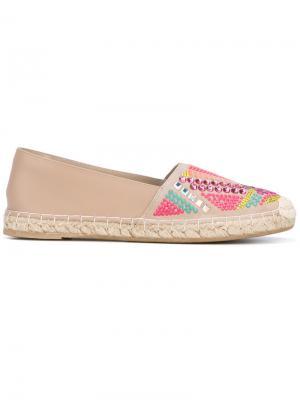 Эспадрильи с декорированным носком Le Silla. Цвет: телесный