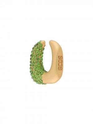 Серьга-кафф Strass Gcds. Цвет: зеленый