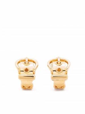 Серьги Séllier 2000-х годов Hermès. Цвет: золотистый