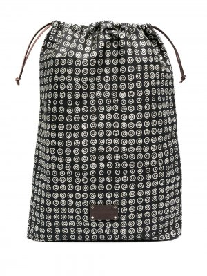 Дорожная сумка Eris с логотипом 10 CORSO COMO. Цвет: черный - белый