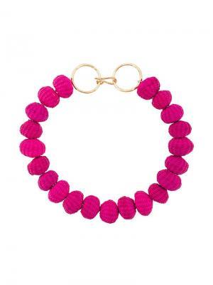 Ожерелье из бус Carolina Herrera. Цвет: розовый