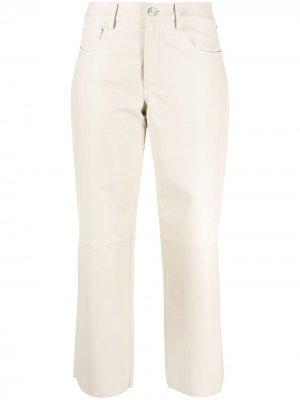 Укороченные брюки прямого кроя Drome. Цвет: нейтральные цвета