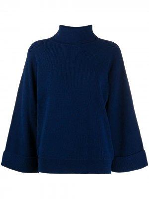Джемпер с высоким воротником и расклешенными рукавами A.P.C.. Цвет: синий