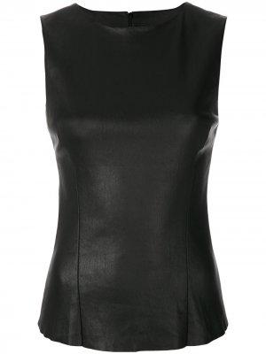 Fitted leather top Drome. Цвет: черный