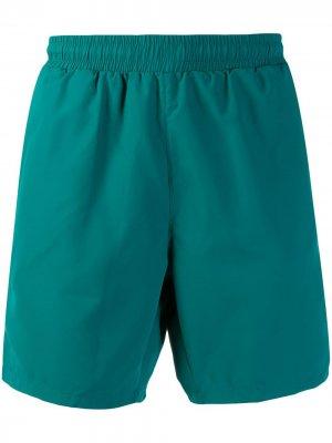 Плавки-шорты с логотипом BOSS. Цвет: зеленый