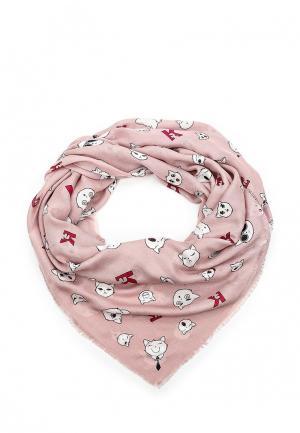 Платок Karl Lagerfeld. Цвет: розовый