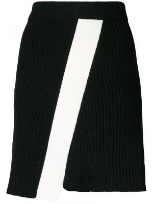 Юбка с диагональными панелями Calvin Klein 205W39nyc. Цвет: черный