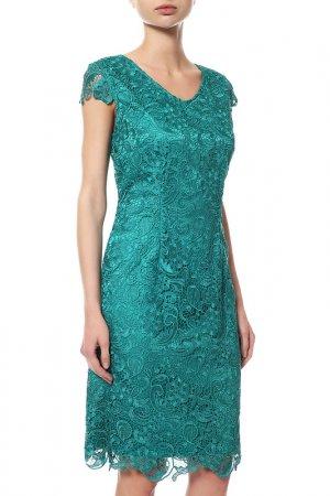 Платье Vera Mont. Цвет: зеленый