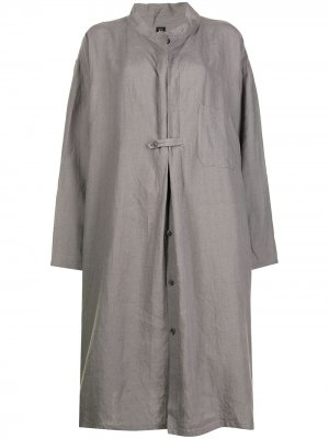 Ys платье-рубашка Y's. Цвет: серый