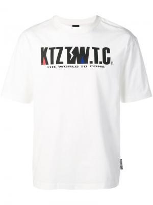 Футболка с принтом логотипа KTZ. Цвет: белый