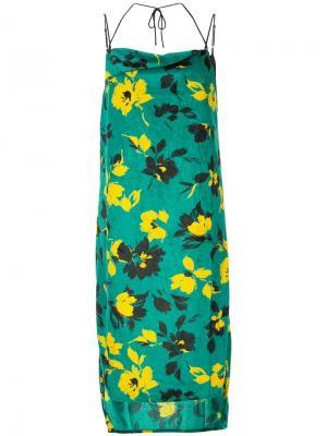 Floral print dress Maison Mihara Yasuhiro. Цвет: зеленый