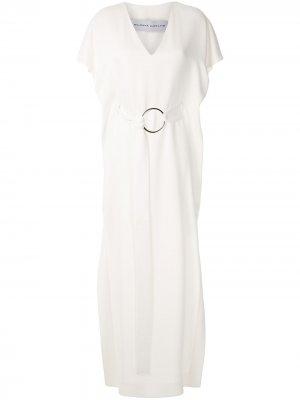 Платье макси с аппликацией Gloria Coelho. Цвет: белый