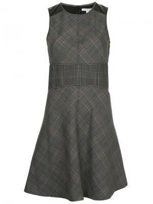 Расклешенное платье без рукавов Derek Lam 10 Crosby. Цвет: серый