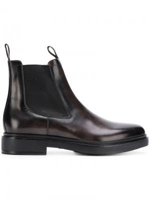 Ботинки челси по щиколотку Santoni. Цвет: серый