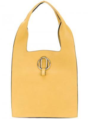 Большая сумка-тоут Stée. Цвет: желтый