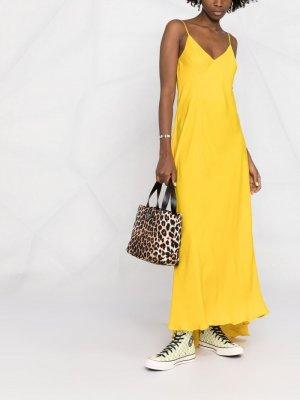 Платье-комбинация макси Essentiel Antwerp. Цвет: желтый
