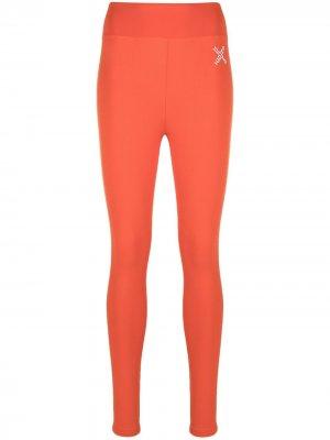 Легинсы с логотипом Kenzo. Цвет: оранжевый