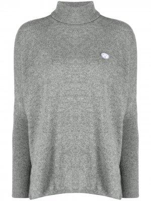 Расклешенный свитер с высоким воротником Société Anonyme. Цвет: серый