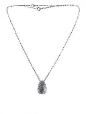 Колье 2000-го года с подвеской из белого золота бриллиантами и кристаллами Cartier. Цвет: белый