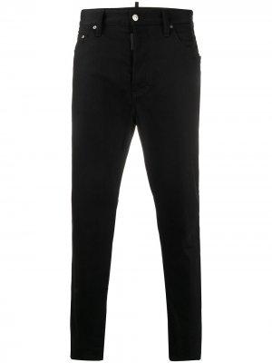 Зауженные джинсы Dsquared2. Цвет: черный