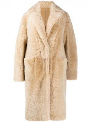 Двустороннее однобортное пальто Manzoni 24. Цвет: нейтральные цвета
