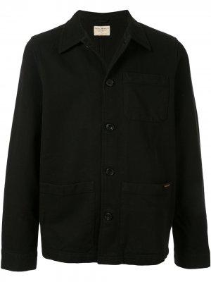 Куртка-рубашка Barney Wroker с карманами Nudie Jeans. Цвет: черный