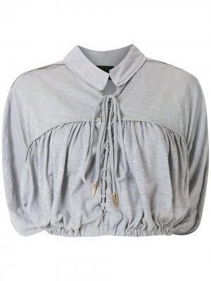 Блузка Suleima с завязками Andrea Bogosian. Цвет: 05314серебристый