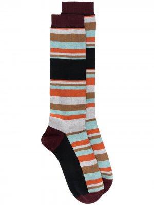 Длинные носки в полоску Marni. Цвет: серый