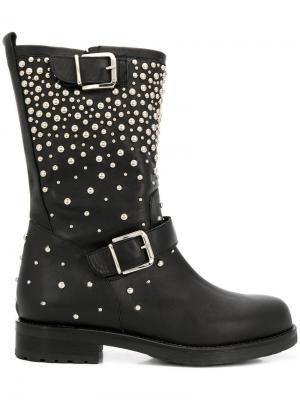 Pearl embellished boots Albano. Цвет: черный