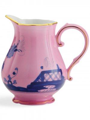 Сливочник Oriente Italiano (11 см) GINORI 1735. Цвет: розовый