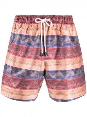 Плавки-шорты с принтом Missoni Mare. Цвет: красный