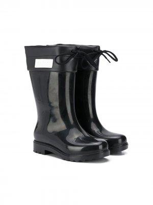 Резиновые сапоги со шнуровкой Mini Melissa. Цвет: черный