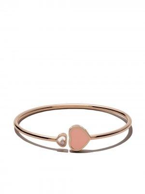 18kt rose gold Happy Hearts diamond bangle Chopard. Цвет: розовый
