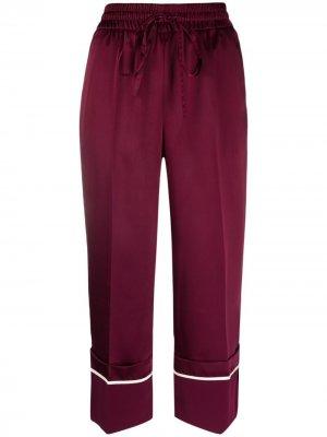 Укороченные брюки с подворотами RED Valentino. Цвет: розовый