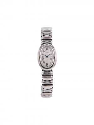 Наручные часы Baignoire pre-owned 22 мм 1990-х годов Cartier. Цвет: белый
