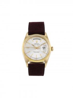 Наручные часы Day-Date pre-owned 36 мм 1966-го года Rolex. Цвет: серебристый