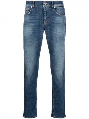 Зауженные джинсы Slimmy 7 For All Mankind. Цвет: синий