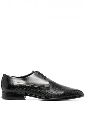 Фактурные туфли дерби Boss Hugo. Цвет: черный