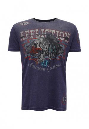 Футболка Affliction. Цвет: фиолетовый