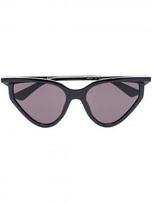 Солнцезащитные очки Rim в оправе кошачий глаз Balenciaga Eyewear. Цвет: черный